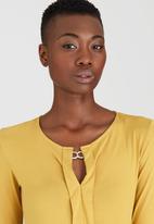 Kate Jordan - Smart Pleated Top Yellow