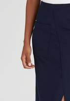 HABITS - Overlay Wrap Skirt Navy