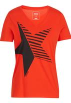 Converse - Star Easy V-neck Tee Red