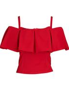 STYLE REPUBLIC - Cold Shoulder Blouse Red