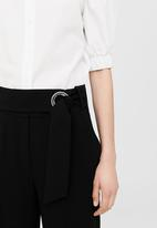 MANGO - Buckle Crop Trousers Black