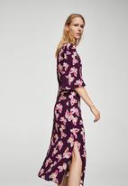 MANGO - Butterfly Print Dress Mid Purple