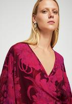 MANGO - Wrap Floral Blouse Red