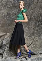 Gert-Johan Coetzee - Flare Skirt with Panels Black