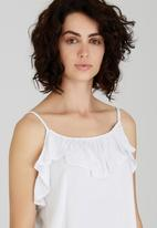 edit - Cami with Frills White