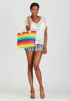 Joy Collectables - Rainbow Striped Beach Bag Multi-colour