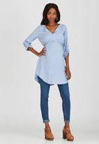 edit Maternity - Longer Length Tunic Blue