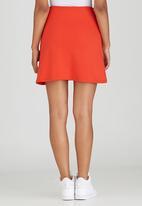 c(inch) - Zip Mini Skirt Orange