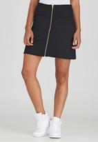 c(inch) - Zip Mini Skirt Black