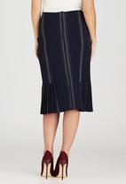edit - Side Pleated Skirt Blue and White