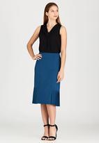 edit - Side Pleated Skirt Turquoise