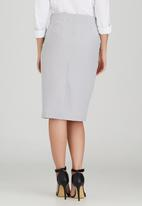 edit - Semi-fitted Skirt with Button Detail Black and White