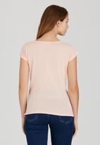 edit - Sleeveless Drape Top Pale Pink