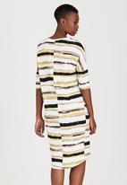 edit - Easy Wearing Wrap-over Dress Multi-colour