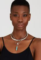 Joy Collectables - Choker and Drop Necklace Turquoise