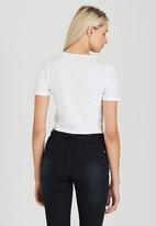 Brave Soul - Crop Tee with Tie Front Detail White