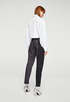 MANGO - Mom Relaxed Jeans Black