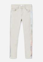 MANGO - Metallic Trims Jeans Pale Grey