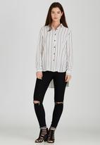 Brave Soul - Pinstripe Shirt White