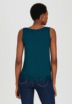 edit - Cami with Crochet Border Lace Turquoise