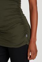 Cherry Melon - Side Gauge Short Sleeve Top Green