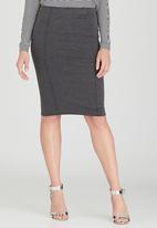 Kate Jordan - Pintuck Skirt Grey Melange