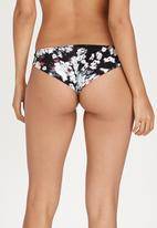 RVCA - Floral Fuzz Cheeky Bottoms Black and White