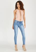 Sissy Boy - Axel Mid Rise Skinny with Bling Profile Mid Blue