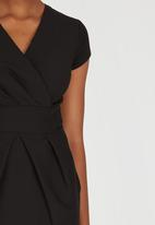 Closet London - Wrap Dress Black