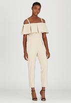 STYLE REPUBLIC - Cold Shoulder Jumpsuit Cream