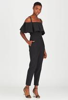 STYLE REPUBLIC - Cold Shoulder Jumpsuit Black