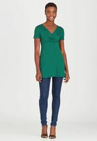 edit - Cross Over Front Tunic Green