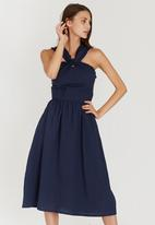STYLE REPUBLIC - Frill Detail Dress Navy
