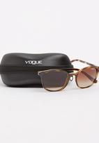 Vogue - Vogue Cat-eye Sunglasses 52mm-Mid Brown