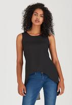 edit - Cami with Back Lace Detail Black