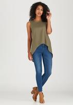 edit - Cami with Back Lace Detail Khaki Green