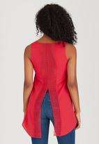 edit - Cami with Back Lace Detail Mid Pink