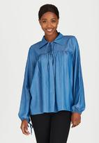 edit - Baby Doll Top Blue