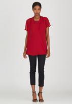Cherry Melon - Wrap Shirt Dark Red
