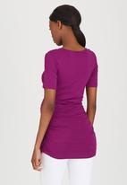 Cherry Melon - Side Gauge Short Sleeve Top Mid Purple