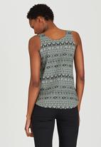 JEEP - Aztec Printed Vest Dark Green