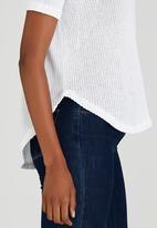 edit - Slouchy Knit Top White