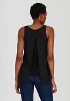 edit - Woven Knit Combo Cami Black