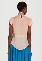 Sober - Sheer Duchess Blouse Pale Pink