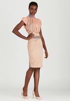 Sober - Lover High-waisted Skirt Stone