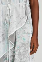 Judith Atelier - Marbled Asymmetrical Maxi dress Grey