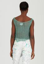 Judith Atelier - Draped Knitted Top Mid Green