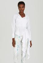 Judith Atelier - Jungle Crisp Peplum Blouse White