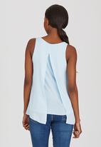 edit - Woven Knit Combo Cami Pale Blue