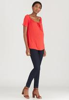 Cherry Melon - Off The Shoulder Top Red